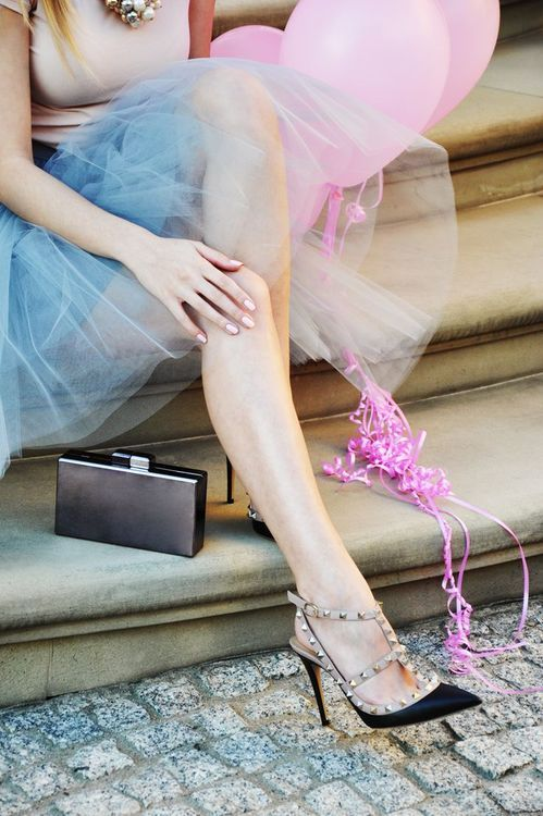 tulle skirt with valentino heels