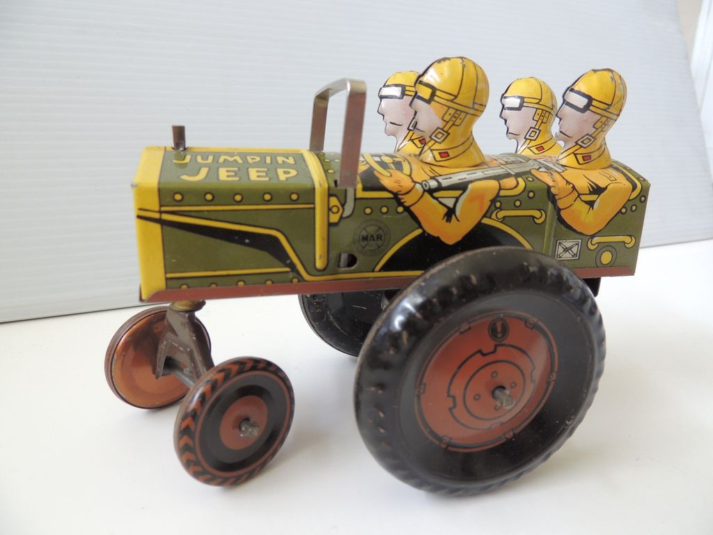 Jeep toys images  Marx Wind Up Toy Jumpin Jeep  Jeeps Toy and Tin toys