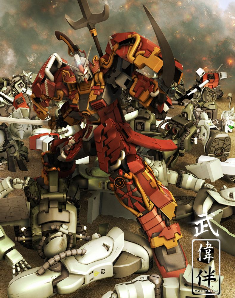 Shin Musha Gundam: Dramatica by sandrum.deviantart.com on @deviantART