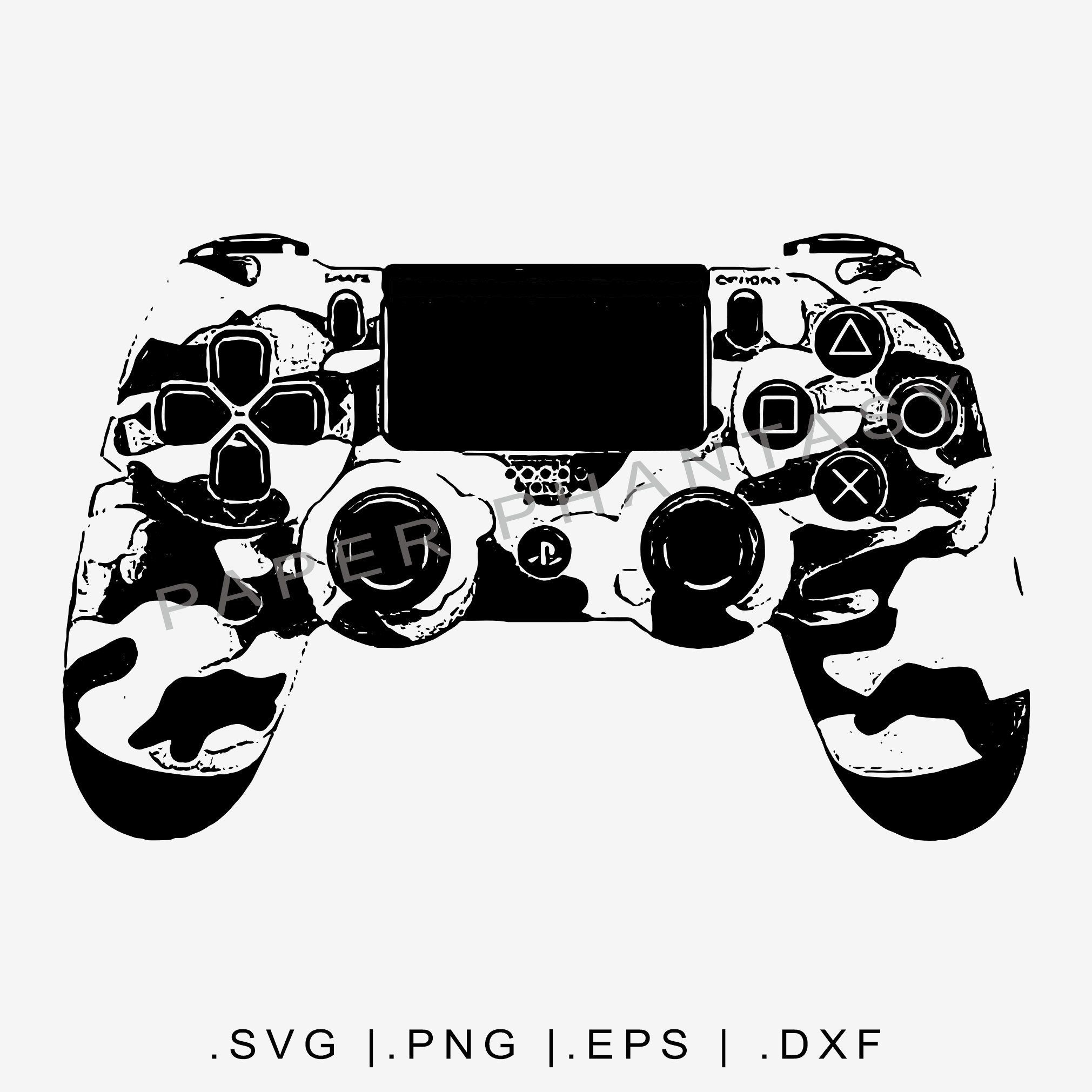Grunge Playstation 4 Controller Svg Video Game T Shirt Design Dtg Graphic Tee Png Vector Clip Shirt Designs Grunge T Shirt Designs