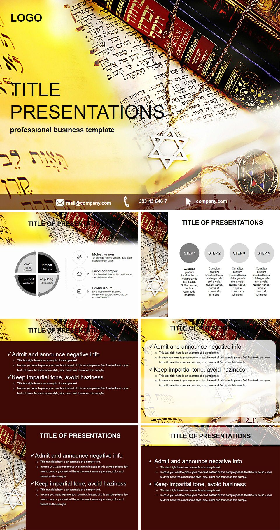Jewish Scriptures Powerpoint Template Powerpoint Templates