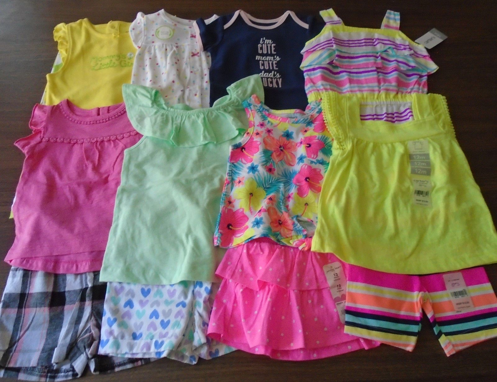 Mixed Items and Lots New 14 Pc Lot Baby Girl Clothes 12
