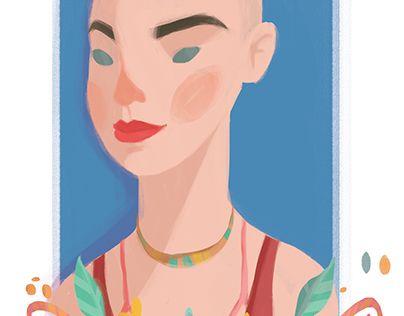 "Check out new work on my @Behance portfolio: ""Rocking Ladies Number 03: Hale Bayrak"" http://on.be.net/1C48Ymn"