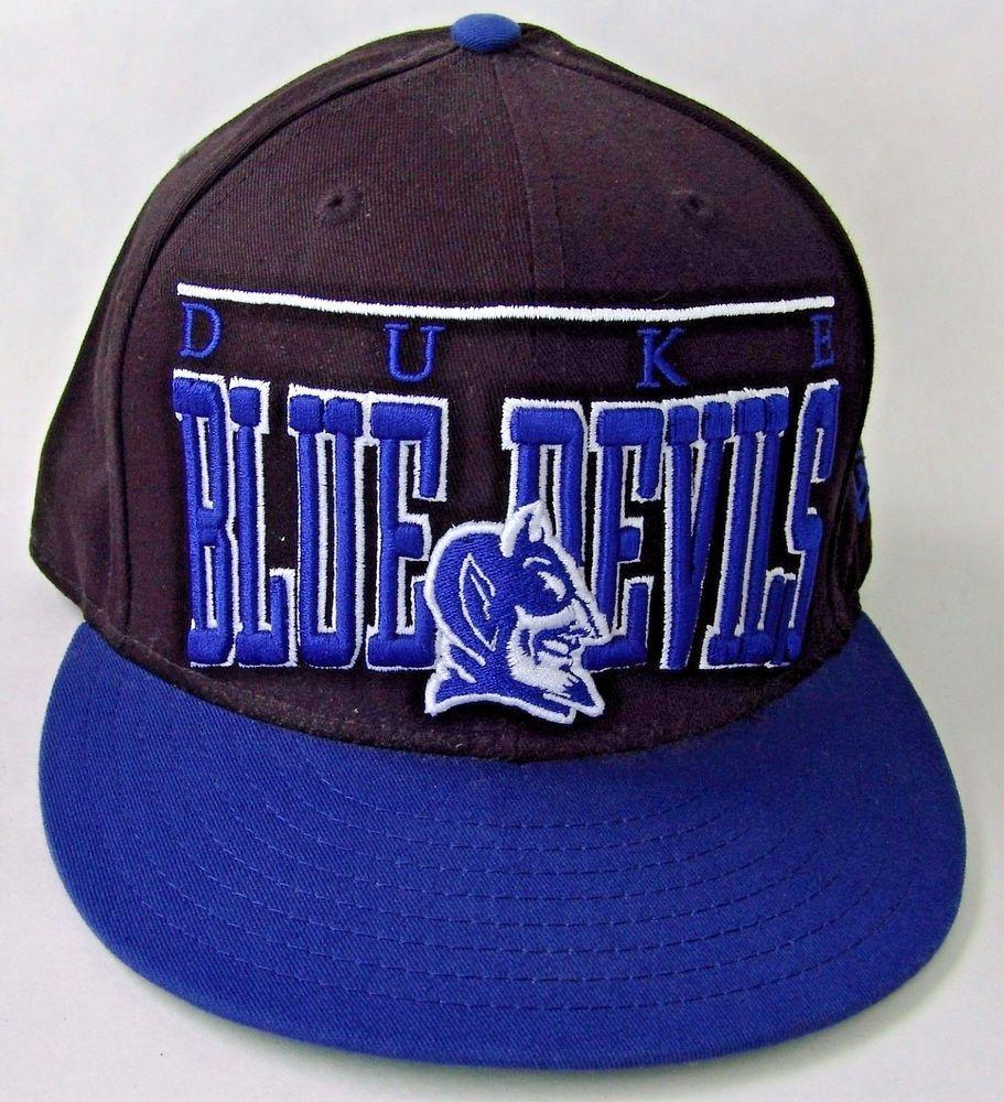 New Era 9 Fifty Duke Blue Devils Mascot Vintage Snapback Baseball Cap Hat a8a9e2b8dc56