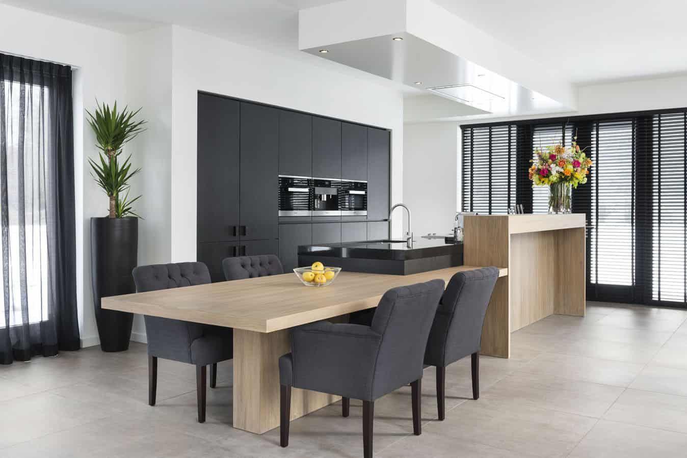 Keuken Design Moderne : Moderne keuken met bar g bildepunkter nytt hus