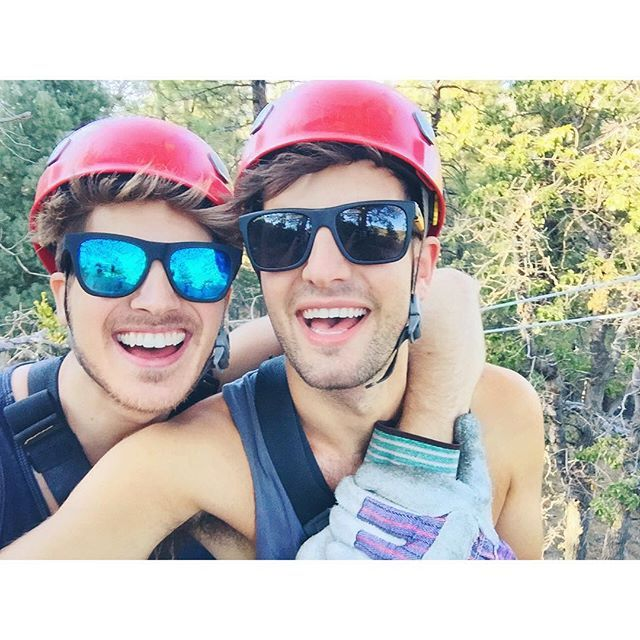 Hangin' at 350 feet! Happy Labor Day weekend!🌲🗻👦🏼👦🏽 (Daniel IG 06.09.2015)