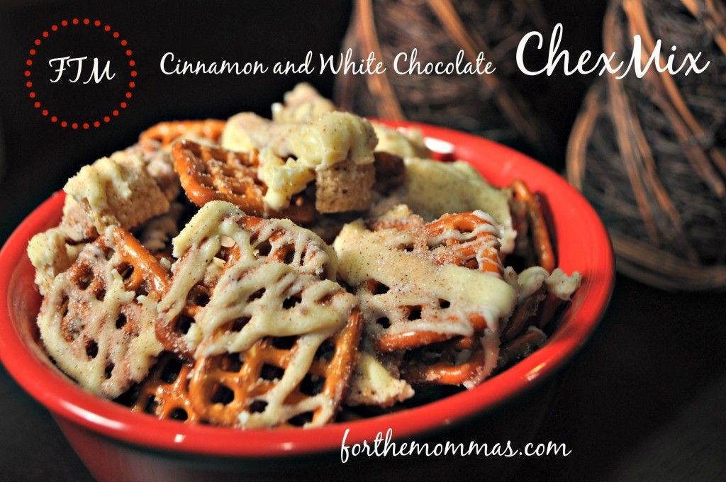 Cinnamon and White Chocolate Chex mix