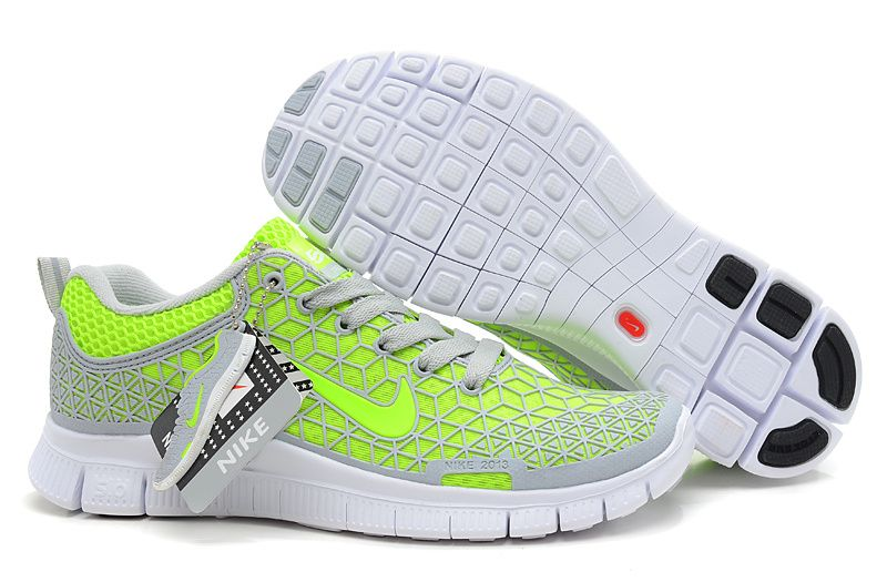 best service 15f6f 0ab24 Womens Nike Free 6.0 Soft Grey Volt White Shoes