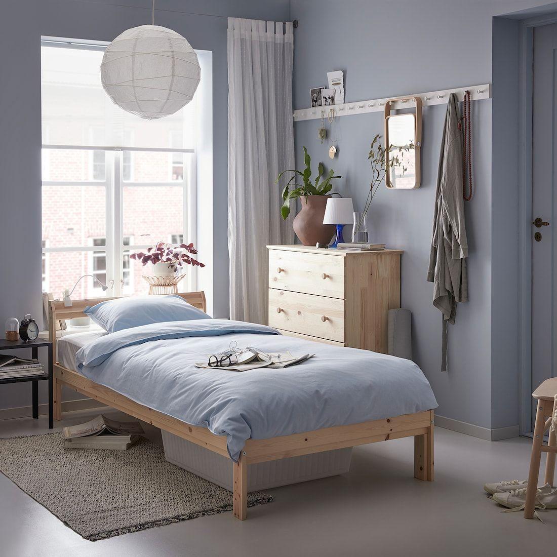 NEIDEN Bed frame, pine birch, Luröy, Twin IKEA | Bed frame