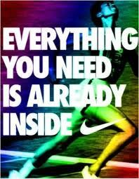 You are your own greatest enemy. Dig deep. Don't give up. Monday begins the diet & exercise schedule. I want my soccer body back!