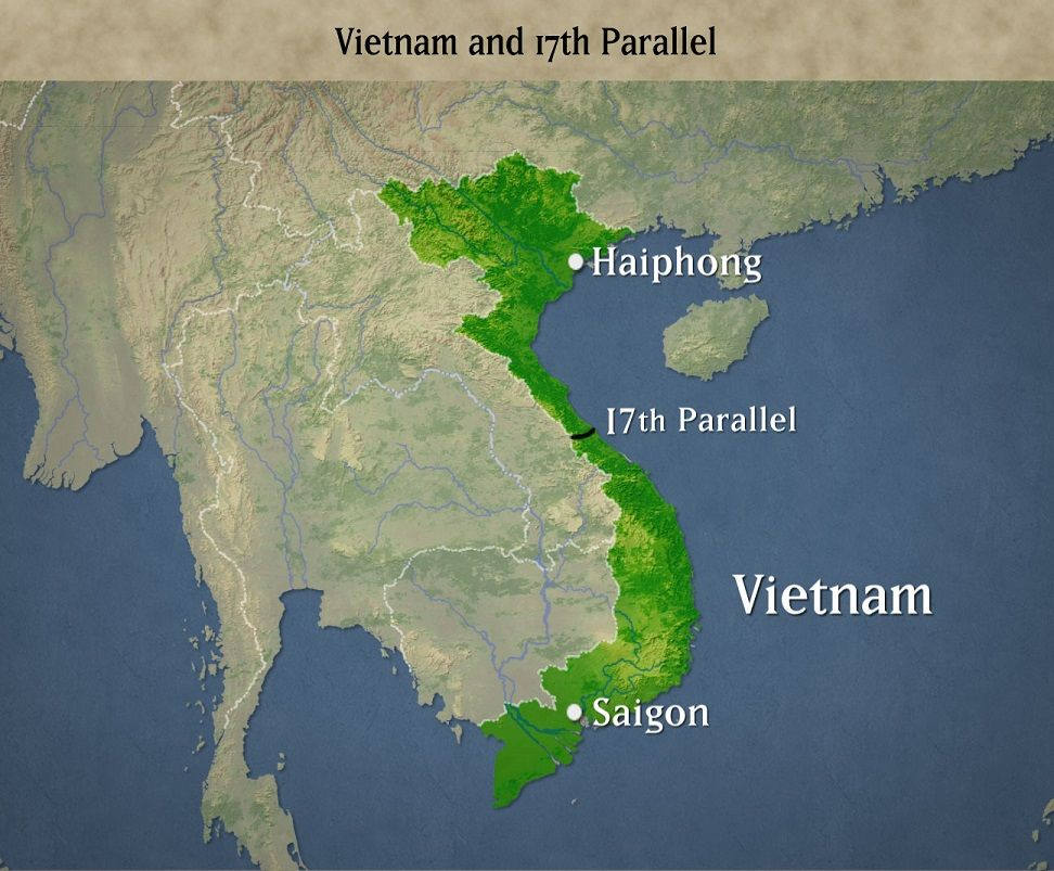 17th Parallel Vietnam Map.Seeds Of Conflict July 21 1954 The Geneva Accords Divide Vietnam