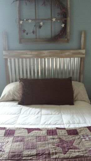 Corrugated Metal Headboard Diy Pinterest Corrugated