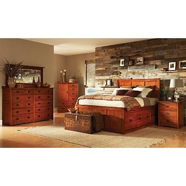 Miraculous American Mission Ii King Pedestal Bed Bedroom Suite Love Beutiful Home Inspiration Ommitmahrainfo