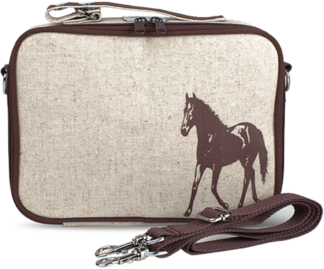 SoYoung - Brown Horse Lunch Box - SoYoung - eco-friendly bags and  accessories for the modern family - designed in Canada 2f9ff73210d6b