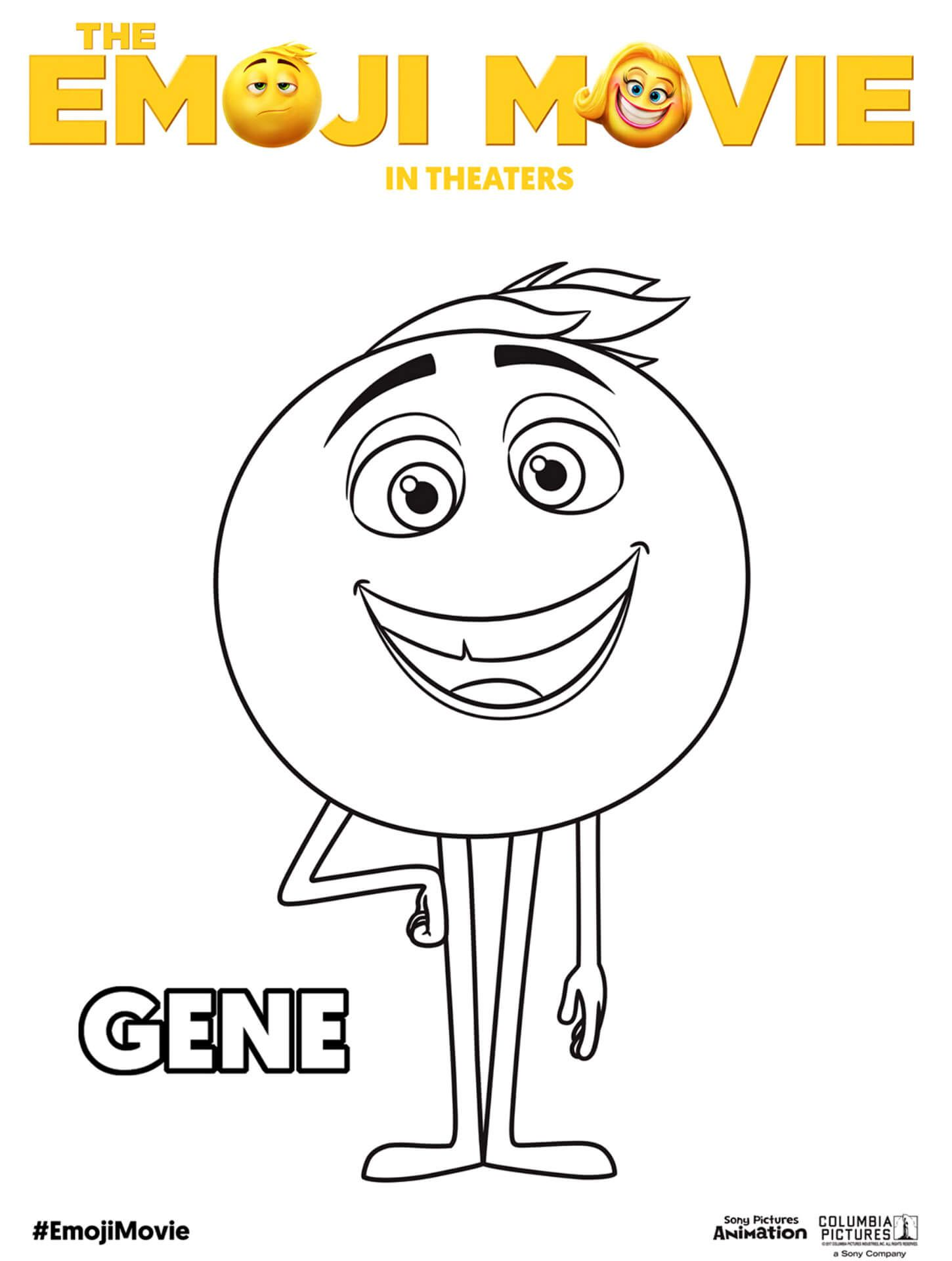 The Emoji Movie Gene Coloring Pages Emoji Coloring Pages Emoji Movie Coloring Pages