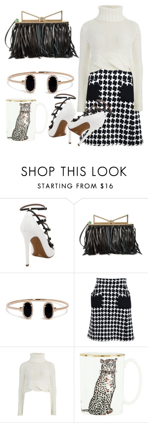 """""""Black and white"""" by bijouxinedit on Polyvore featuring Tabitha Simmons, Sara Battaglia, LULUS, Chanel, C/MEO COLLECTIVE and Kate Spade"""