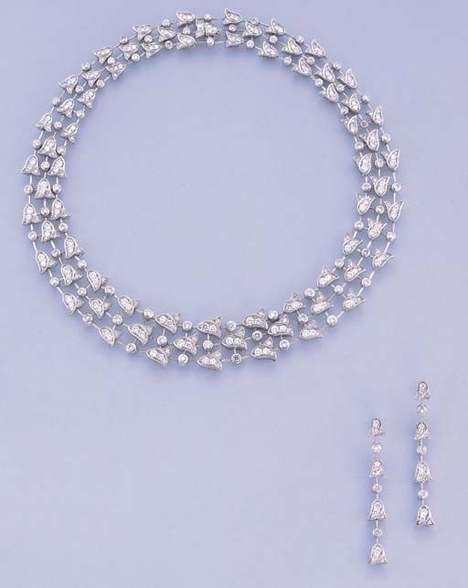 A DIAMOND 'BLUE BELL' NECKLACE, BY GRAFF