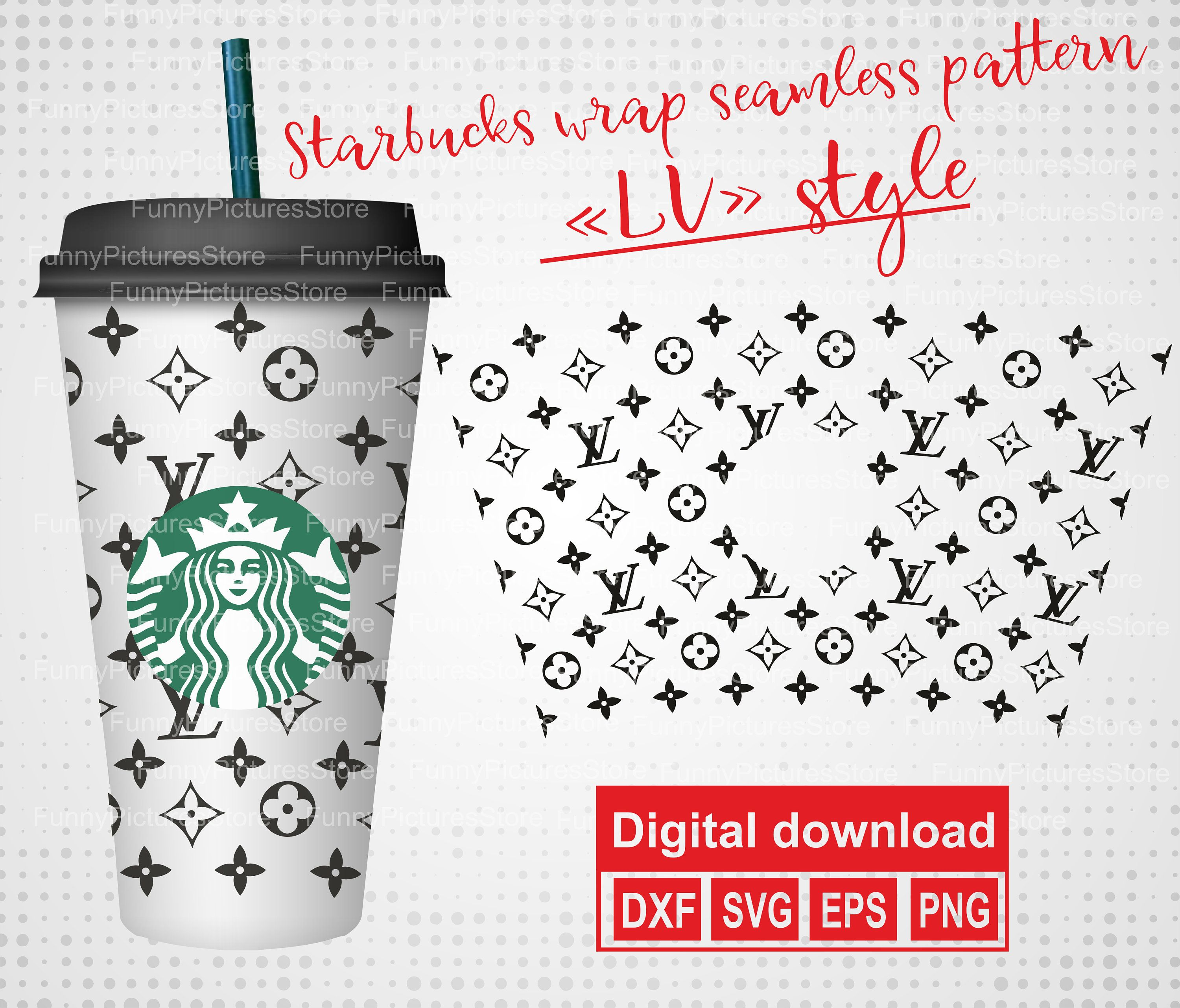 Seamless Wrap For Starbucks Lv For Starbucks Reusable Cold Etsy In 2020 Cricut Projects Vinyl Starbucks Cricut Craft Room