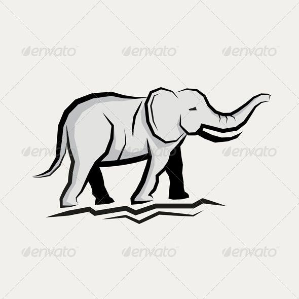 Grey Elephant Vector  #GraphicRiver         Grey Elephant Vector illustration     Created: 22June13 GraphicsFilesIncluded: VectorEPS Layered: No MinimumAdobeCSVersion: CS Tags: animal #beast #bigelephant #black #decoration #design #elephant #greyelephant #icon #illustration #label #nature #standing #symbol #truck #vector #walking