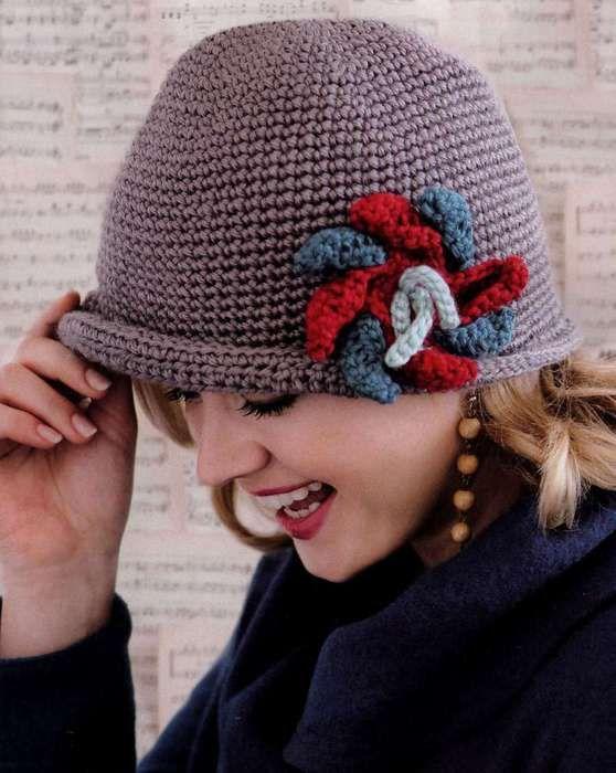 Шляпки шапки вязаные спицами описание фото