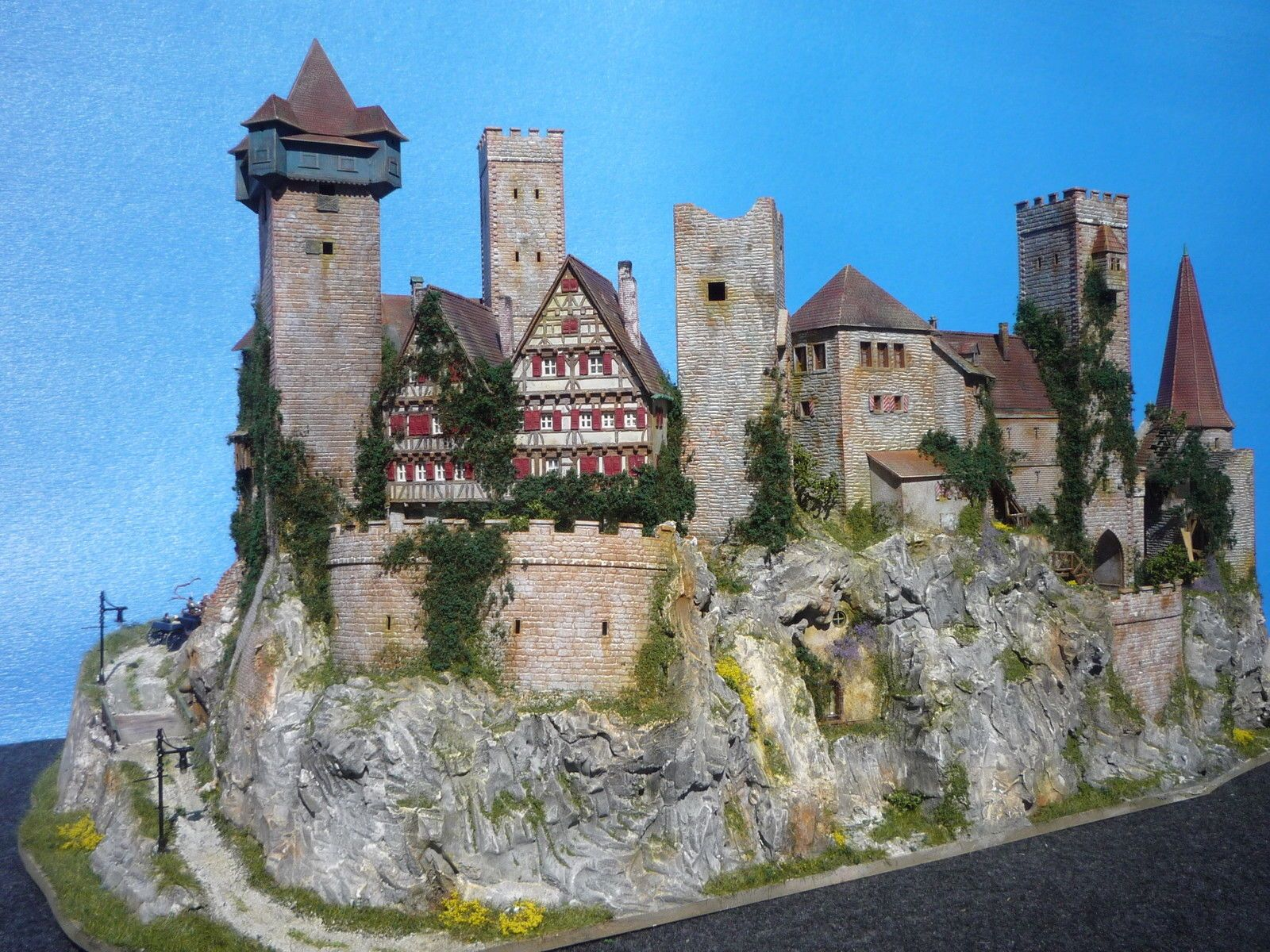 Diorama castle burg schloss elbenwald patiniert for Kutsche playmobil