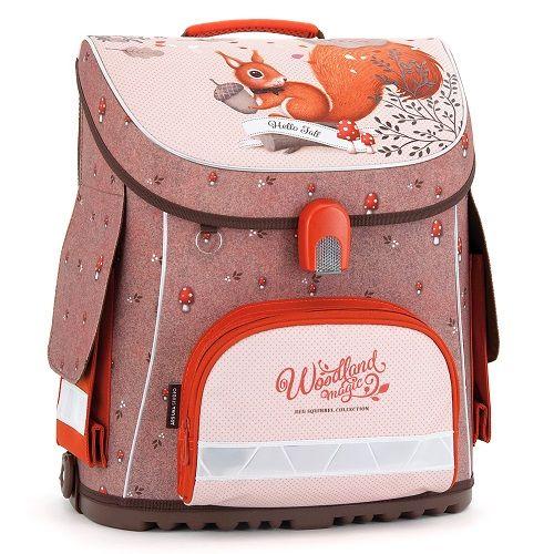 6cd383c28b79b Kompaktná školská taška Veverička WOODLAND | do školy