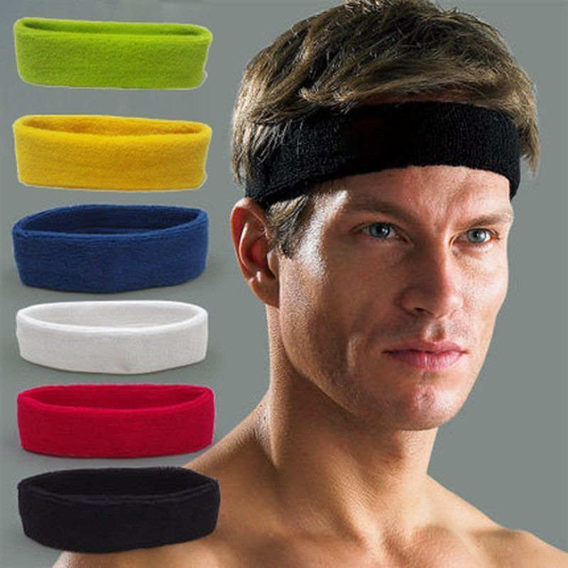 Sports Sweat Band Wristband Headband Set Squash Tennis Badminton Gym Yoga Class