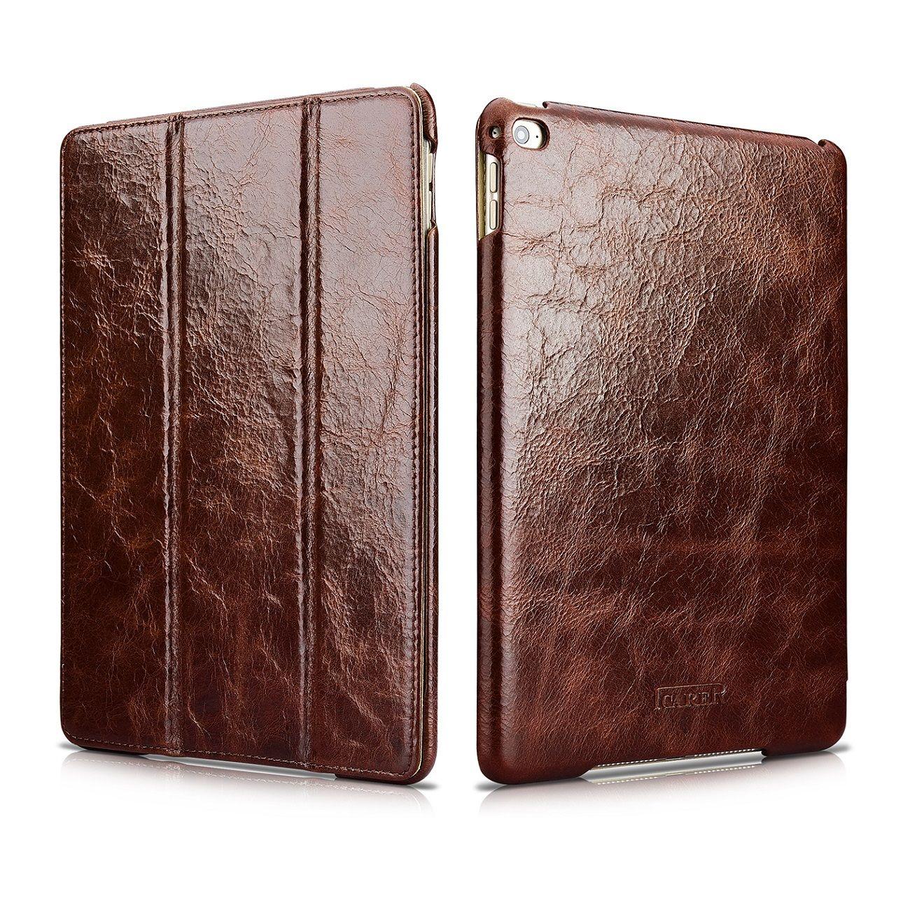 Icarer Vintage Series Tasche Fur Apple Ipad Pro 12 9 Braun Ipad Hulle Leder Ipad Tablet Hullen
