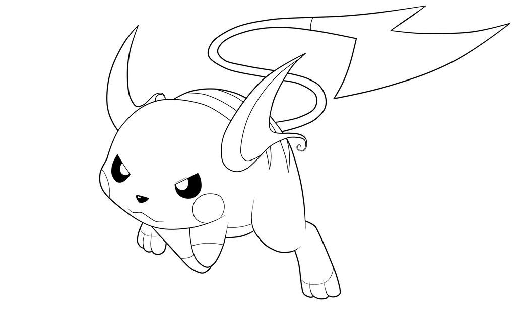 Raichu Lineart By Moxie2d On Deviantart Pokemon Coloring