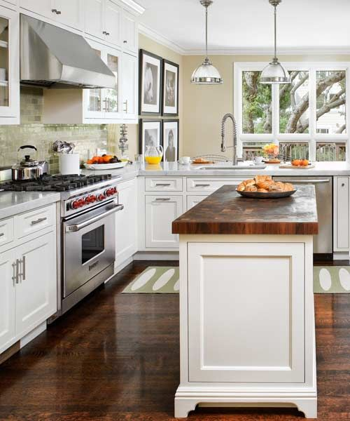 Small White Kitchen Island: Small Changes Equal Big Improvements In A Kitchen Space