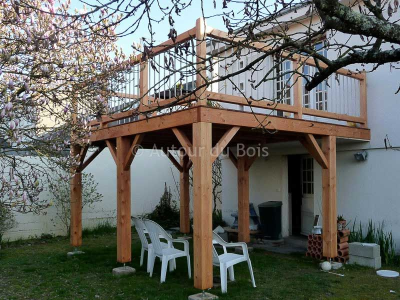 construire une terrasse bois sur pilotis decking verandas and terrazzo. Black Bedroom Furniture Sets. Home Design Ideas