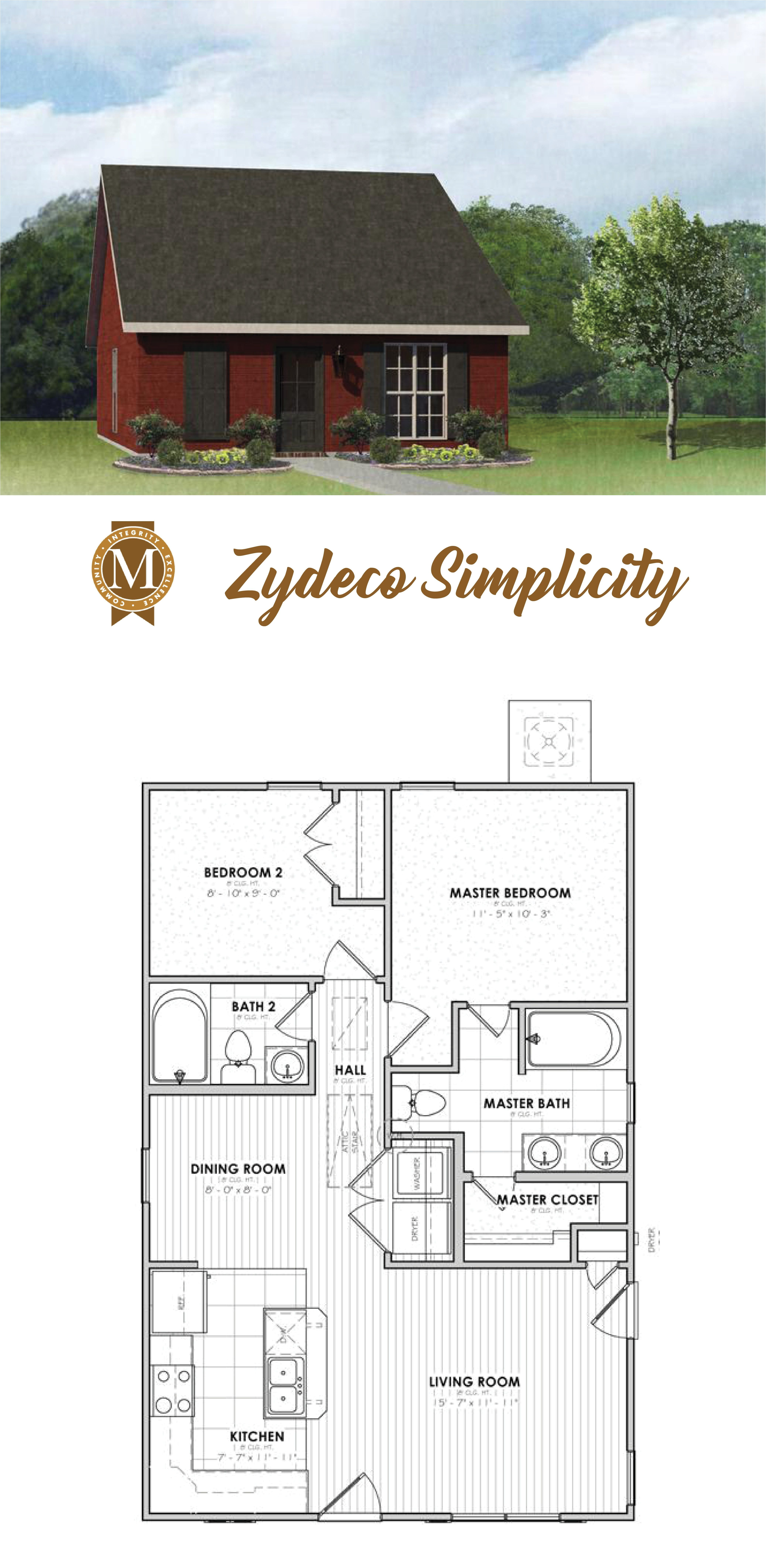 2 Bedroom 2 Bath Apartments In Baton Rouge House Plans Cottage House Plans Tiny House Plans
