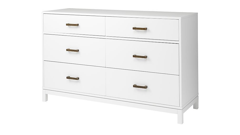 Kids Parke White 6-Drawer Dresser