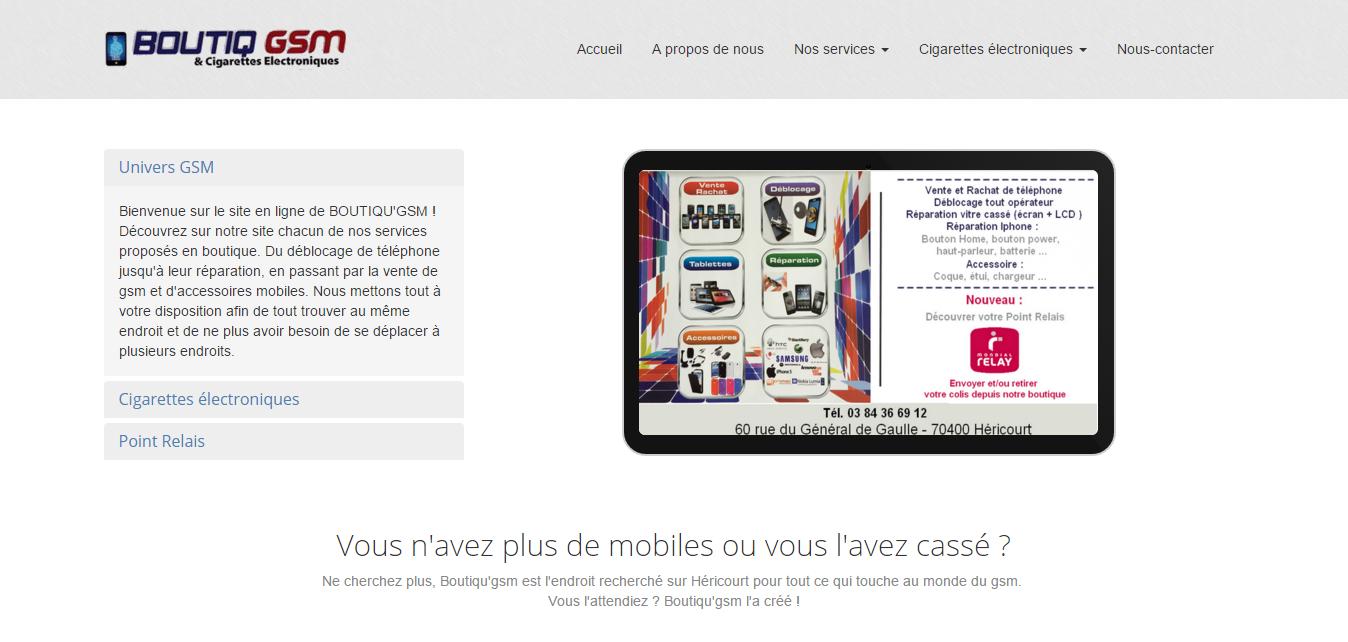 L'entreprise Boutiqu'Arôme chez laquelle j'ai effectué mon stage à évolué et a mis un pied dans le monde du GSM. Découvrez le nouveau site que j'ai créé afin de présenter les nouveaux services de l'entreprise.