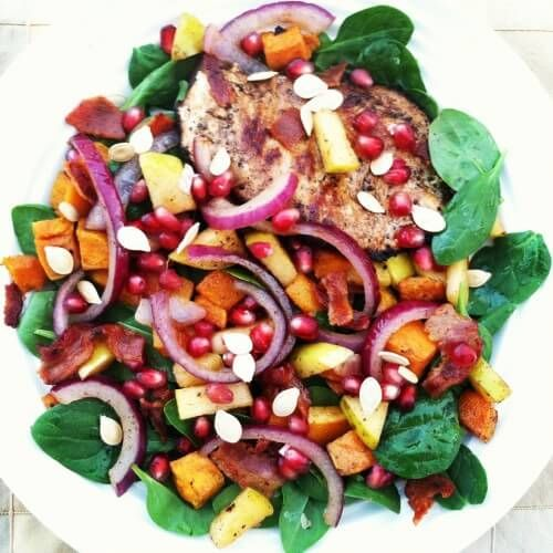This autumn salad will delight your eyes and your taste buds! It's so colorful and so delicious!