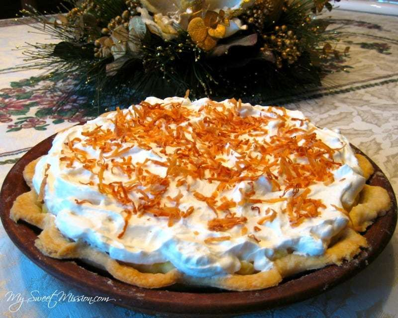 Coconut Cream Pie Our Coconut Cream Pie has a flaky crust, with an amazing coconut cream  filling,