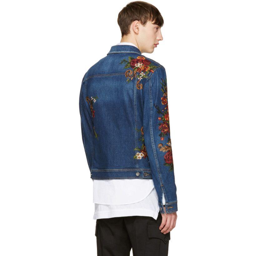 4224559537 Dolce   Gabbana - Indigo Embroidered Denim Jacket