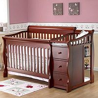 Love This Convertible Crib With Attached Changing Table