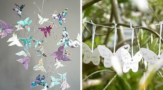 diy selbst origami schmetterling hochzeitsdeko ideen. Black Bedroom Furniture Sets. Home Design Ideas