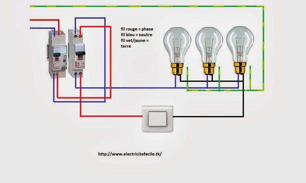 Si Vous Voulez En Savoir Sur Norme D Alimentation Et Cablage Circuit Simple Allumage Schema Electrique Interrupteur Simple Al Simple Screwdriver