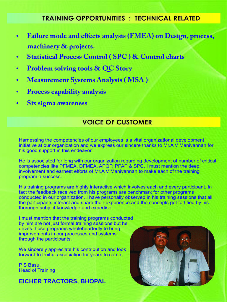 Technical Related Training Programs conducted by Sri Padhmam Consultancy & Training.