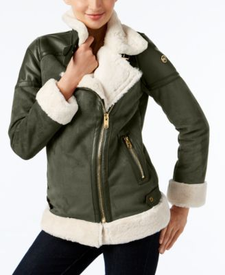 688570091028d MICHAEL KORS MICHAEL Michael Kors Faux-Shearling Coat.  michaelkors  cloth    coats
