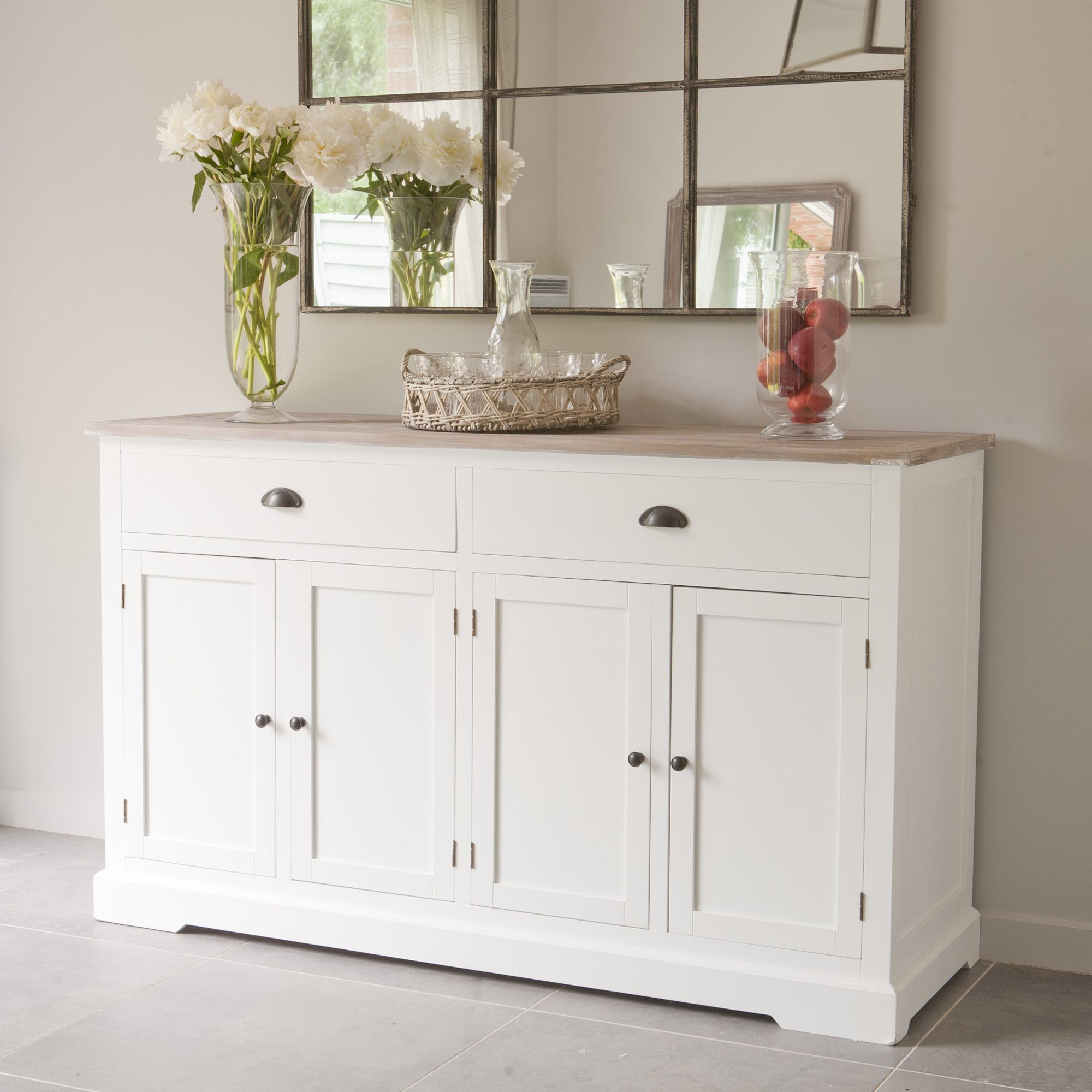 buffet 4 portes 2 tiroirs plateau en pin l150xp50xh90cm mathilde mathilde et pauline port offert. Black Bedroom Furniture Sets. Home Design Ideas
