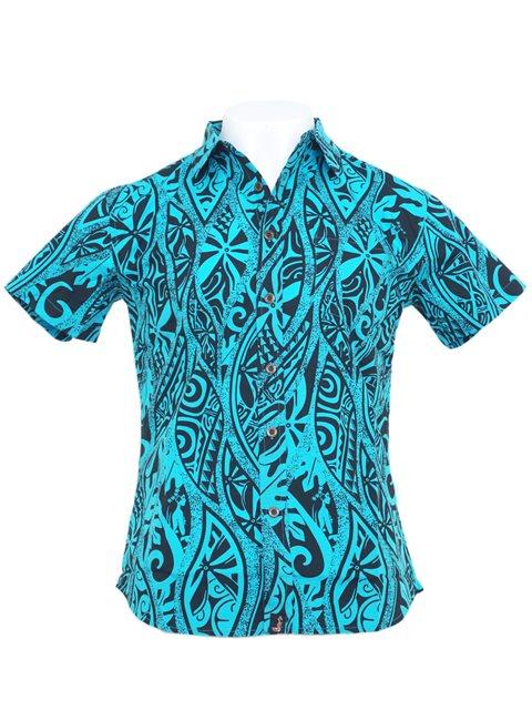 Paradise Found Waimea Casuals Mens Coral Reef Shirt