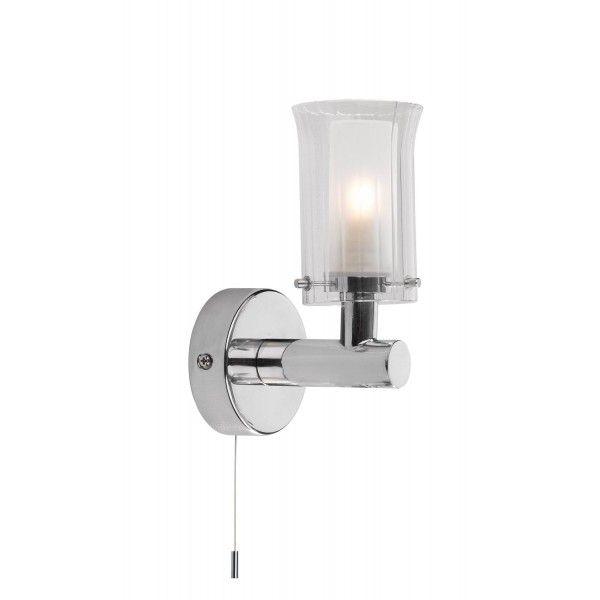 The Lighting Book ELBA Single Bathroom Wall Light Chrome
