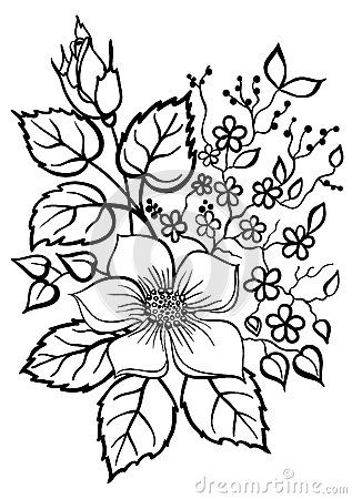 Pin By Anabela Almeida On Downloads And Sketches Flower Outline Flower Drawing Flower Coloring Pages