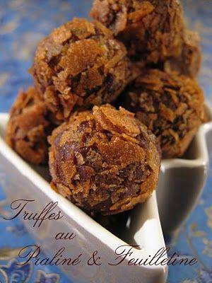 Truffes au Praliné & Feuilletine