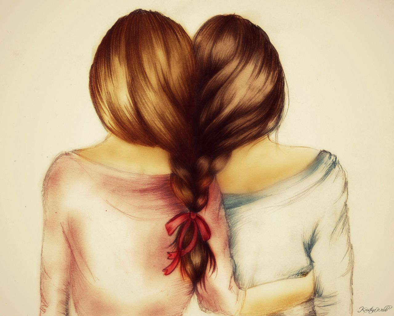 The Meaning Of Friendship Drawings Of Friends Bff Drawings How To Draw Braids