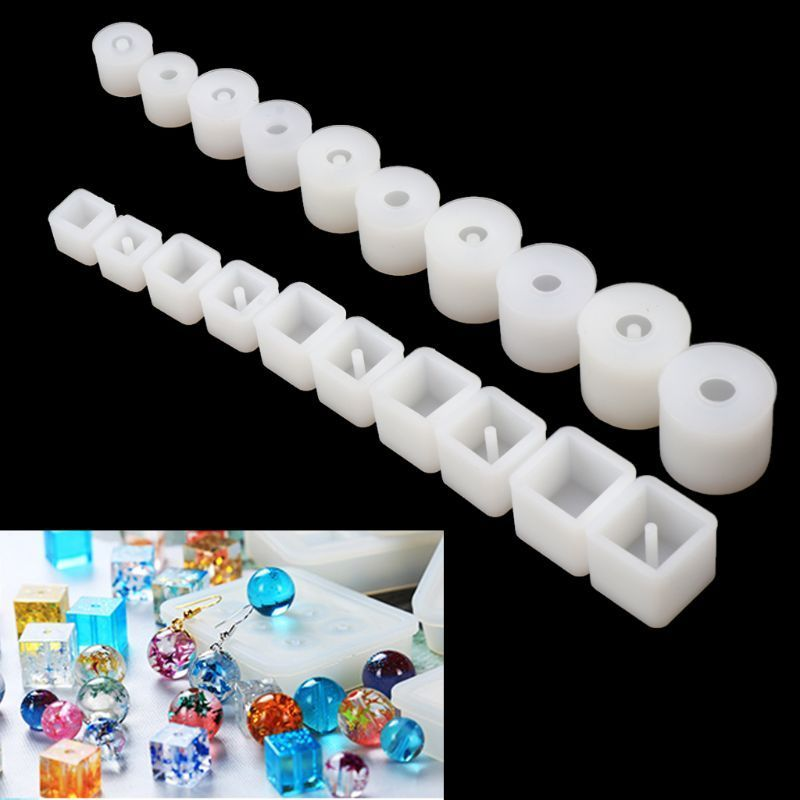 20Pcs Silicone Mold Resin Casting Jewelry Making Mould Epoxy Craft DIY Tool