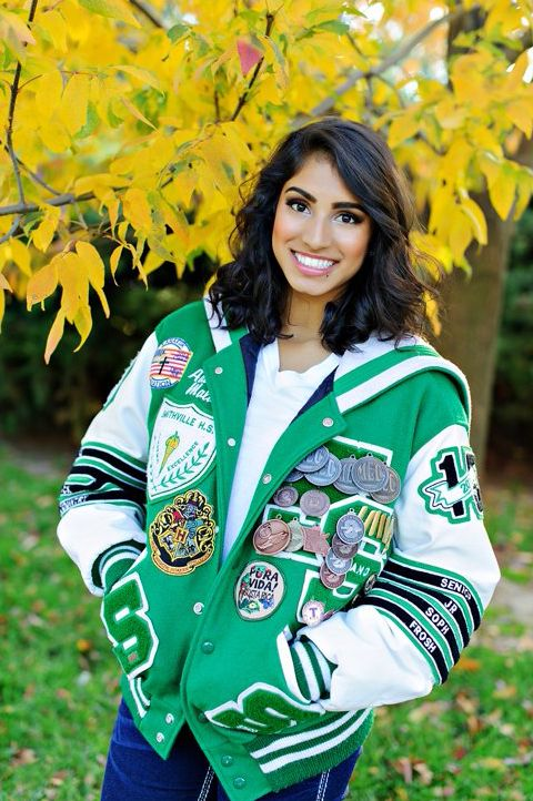 Senior Portrait Photo Picture Idea Girls Varsity Letter Jacket Letter Jacket Letterman Jacket Ideas Varsity Letterman Jackets